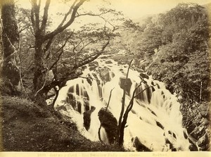 Wales Betws y Coed Swallow Falls Waterfall Old Photo Bedford circa 1870