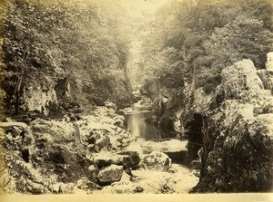 Wales Betws y Coed Fairy Glen? Painter Old Photo Bedford circa 1870
