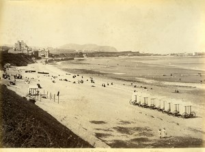 Wales Colwyn bay from the Railway Beach Huts Old Photo Bedford circa 1870