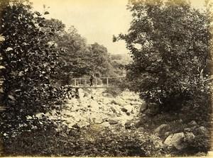 Wales Llanfairfechan River & Footbridge Old Photo Bedford circa 1870