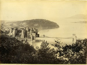 Wales Conwy Castle Panorama Old Photo Bedford circa 1870