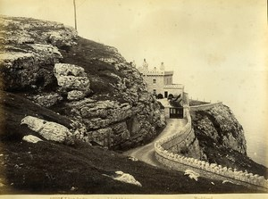 Wales Llandudno the Lighthouse seaside Old Photo Bedford circa 1870