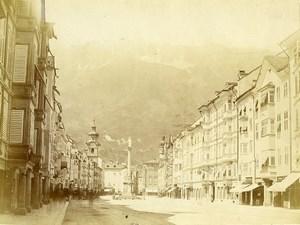 Austria Tyrol Innsbruck Maria-Theresienstrasse Old Photo Czichna c1868