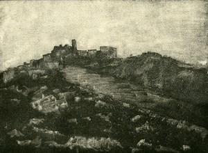 France Alpes Maritimes Chateau Colline environs de Nice Ancienne Photo Pictorialiste c1900