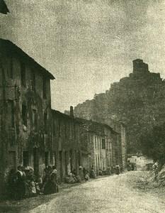 France Alpes Maritimes Village environs de Nice Ancienne Photo Pictorialiste c1900
