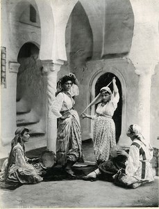 Algeria Algiers Almah Dance Almees Old Photo Leroux 1900