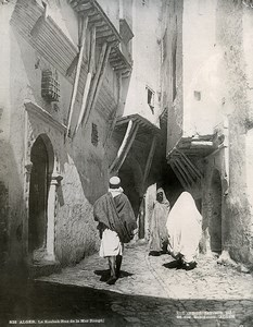 Algeria Algiers Casbah Red Sea Street Old Photo Leroux 1900