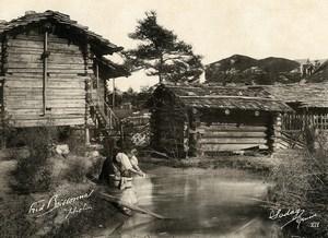Switzerland Countryside Washerwoman Old Photo Fred Boissonnas 1900