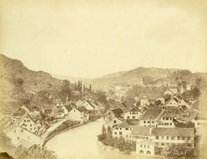 Switzerland Baden im Aargau panorama Old Photo c1870