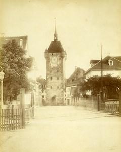 Suisse Baden Argovie Tour de l'Horloge Stadtturm Ancienne Photo c1870