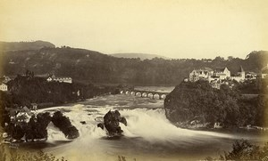 Suisse Schaffhouse Chutes du Rhin Panorama Ancienne Photo Frith's Series 1870
