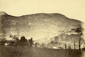 Switzerland Baden im Aargau? Panorama Old Photo c1870