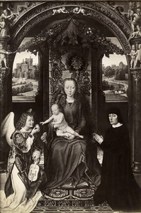 Austria Vienna Wien Museum Hans Memling Virgin & Child Old Photo Lowy c1900
