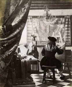 Austria Vienna Wien Museum Johannes Vermeer The Art of Painting Photo Lowy c1900