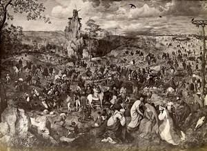 Austria Vienna Wien Museum Pieter Bruegel Procession to Calvary Photo Lowy c1900
