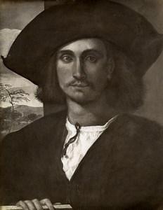 Austria Vienna Wien Museum Giorgione Portrait Old Photo Lowy c1900