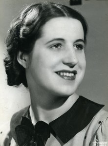 France Paris Young Woman Music Hall Artist? Old Photo c1940