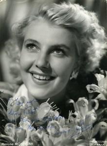 France Paris Music Hall Artist Autograph Monyse Montigny Old Harcourt Photo 1940