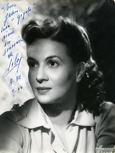 France Paris Music Hall Artist Autograph Lily? Old Harcourt Photo c1940