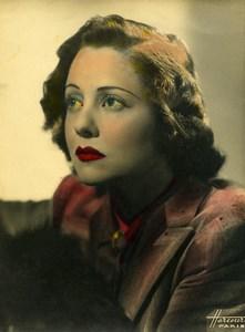 France Paris Music Hall Artist Singer Lucienne Boyer Old Harcourt Photo c1940