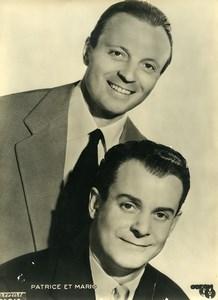 France Paris Music Hall Artists Patrice & Mario Old Harcourt Photo c1940