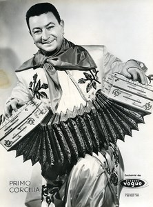 France Paris Music Hall Artist Primo Corchia Accordion Old Photo Nisak 1960