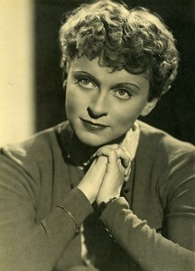 Germany Actress Luise Ullrich Portrait Old UFA Photo c1941