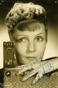 France Paris Music Hall Artist Autograph Suzanne Dehelly Old Photo Harcourt 1940