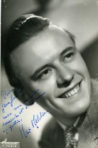 France Paris Music Hall Artist Autograph Max Melchior Old Photo Harcourt c1940