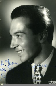 France Paris Music Hall Artist Autograph André Claveau Old Photo Harcourt c1940