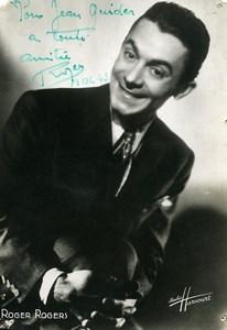 Paris ABC Music Hall Artist Autograph Roger Rogers Old Photo Harcourt c1940