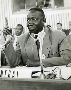 Africa Senegal Joseph N'Baye Political Portrait Old Photo 1960