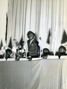 Africa Centreafrique Political Conference Senghor? Old Photo 1960