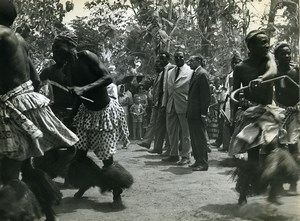 Africa Benin Officials Politicians Traditional Dance Old Photo 1960