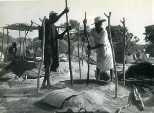 Africa Benin 2 Men at Work in a Village? Old Photo 1960
