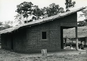 Africa Ivory Coast Mud Hut? Architecture Old Photo 1960