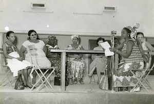 Africa Niger Women's Assembly Old Photo Gerard Bruno 1960