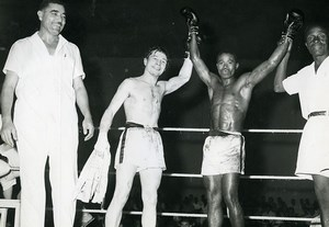 Africa Ivory Coast Boxing Match Jean Claude Bouttier Old Photo 1960