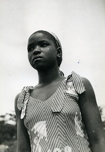 Africa Ivory Coast Young Girl Portrait Old Photo 1960