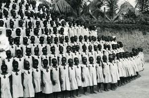 Africa Congo Kangu Girls Primary School Old Photo Van den Heuvel 1960