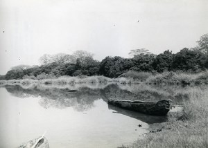 Africa Benin Savalou Dassa Zoume Betel Fisherman's canoe Old Photo 1960