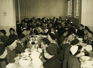 France Nanterre Depot de Mendicite Women Refectory Old Press Photo 1930
