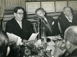 France Paris Cercle Interallié Darius Milhaud Jean Cocteau Old Photo 1960