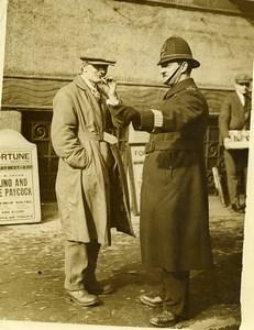 London Irish Dramatist Sean O'Casey & Policeman Old Photo 1930