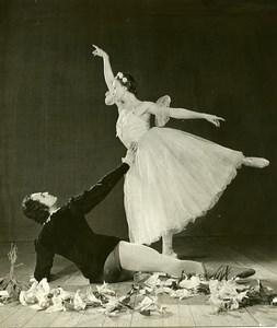 France Russian Ballet Dancer Galina Ulanova Old Photo 1960