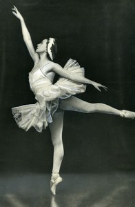 France Danseuse de Ballet Russe Galina Oulanova Ancienne Photo 1950