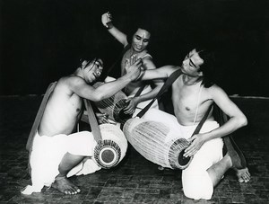 India Manipuri Dance Indian Classical Dance Pung cholom Old Photo 1960