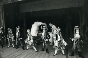 Italy Milano Carlo Colla Puppet Theatre Stage Marionettes Old Photo 1960