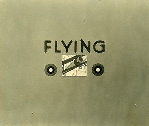 France Tours WWI US Army AEF Flying Aviation Old Photo of Drawing 1918