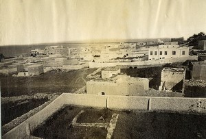 Septentrional Palestine now Israel Haifa Caiffa view panorama Old Photo 1870